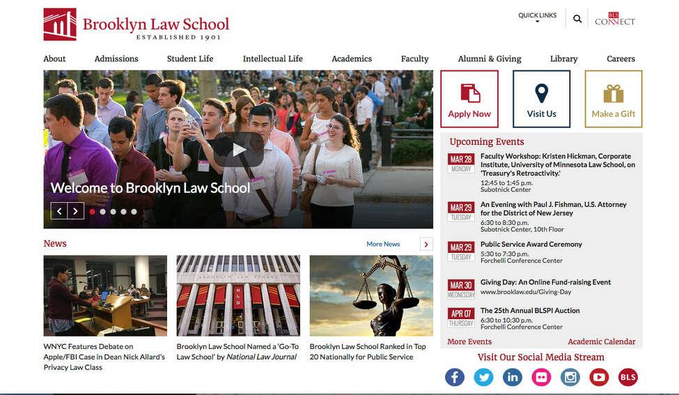Brooklyn Law School Law school - No. 97 Source:U.S. News