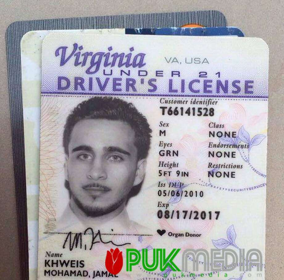 FILE - This photo posted online by PUK shows the Virginia driver's license found on a man who turned himself in to Kurdish forces in northern Iraq on Monday, March 14, 2016. The American Islamic State group fighter who handed himself over to Kurdish forces in Iraq�s north earlier this week says he made �a bad decision� joining IS and traveling to Mosul, according to a heavily edited interview he gave to an Iraqi Kurdish television station that aired late Thursday night, March 17, 2016.  (PUK Media via AP, File) Photo: AP