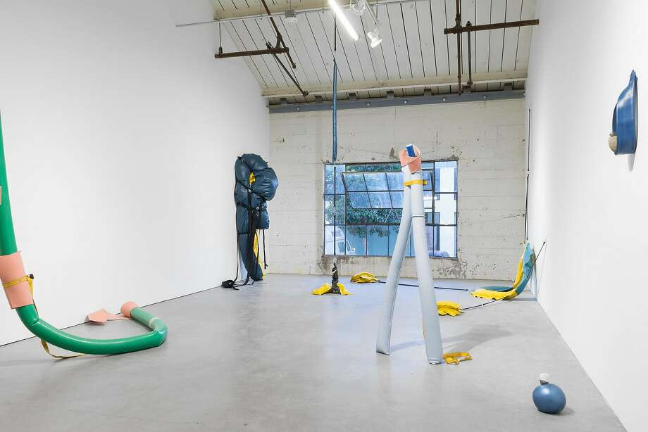 A sculpture installation by May Wilson and Mie Horlyck Mogensen at Bass &Reiner. Photo: Chris Grunder, Courtesy The Artist, Bass And Reiner