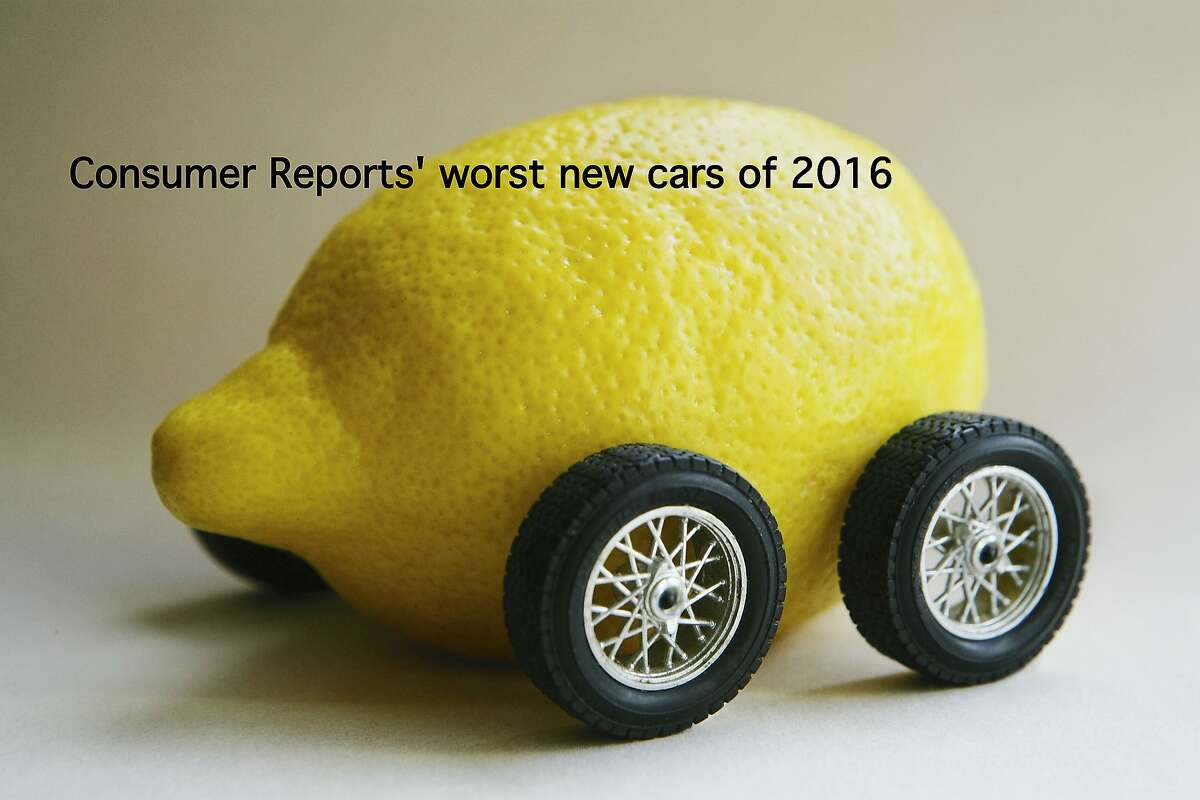 The following gallery shows Consumer Reports' choices for the worst new cars of 2016 in 10 categories. Avoid them at all costs.