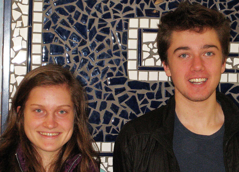William Andrews and Hannah DeBalsi have been named the valedictorian and salutatorian, respectively, of the Staples High School Class of 2016. Photo: Contributed / Contributed Photo / Westport News