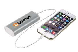 The Dry Guy Warm N� Charge gives approximately two full charges to most smart phones, and can be recharged by micro USB cable more than 500 times.