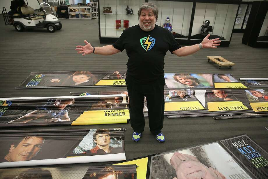 Steve Wozniak talks about special celebrities who are part of the first Silicon Valley Comic Con at the San Jose Convention Center in San Jose, California,  on Friday, March 18, 2016. Photo: Liz Hafalia, The Chronicle
