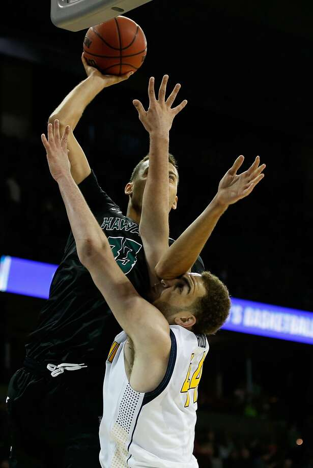 SPOKANE, WA - MARCH 18: Stefan Jankovic #33 of the Hawaii Warriors puts up a shot against Kameron Rooks #44 of the California Golden Bears in the second half during the first round of the 2016 NCAA Men's Basketball Tournament at Spokane Veterans Memorial Arena on March 18, 2016 in Spokane, Washington.  (Photo by Ezra Shaw/Getty Images) Photo: Ezra Shaw, Getty Images