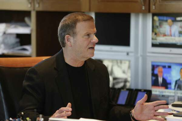 "Tilman Fertitta, CEO of Landry's, in his boardroom in Houston on an episode of CNBC's ""Billion Dollar Buyer,"" a new business-focused reality show beginning March 22."