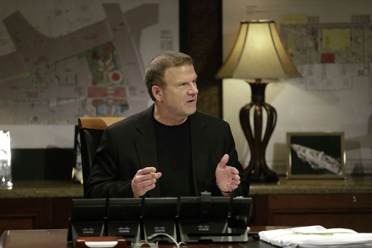 """Tilman Fertitta, CEO of Landry's, in his boardroom in Houston on an episode of CNBC's """"Billion Dollar Buyer,"""" a new business-focused reality show beginning March 22."""