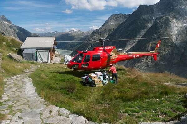 Resupplying the Lauteraarhutte is the alpine version of a Costco run.