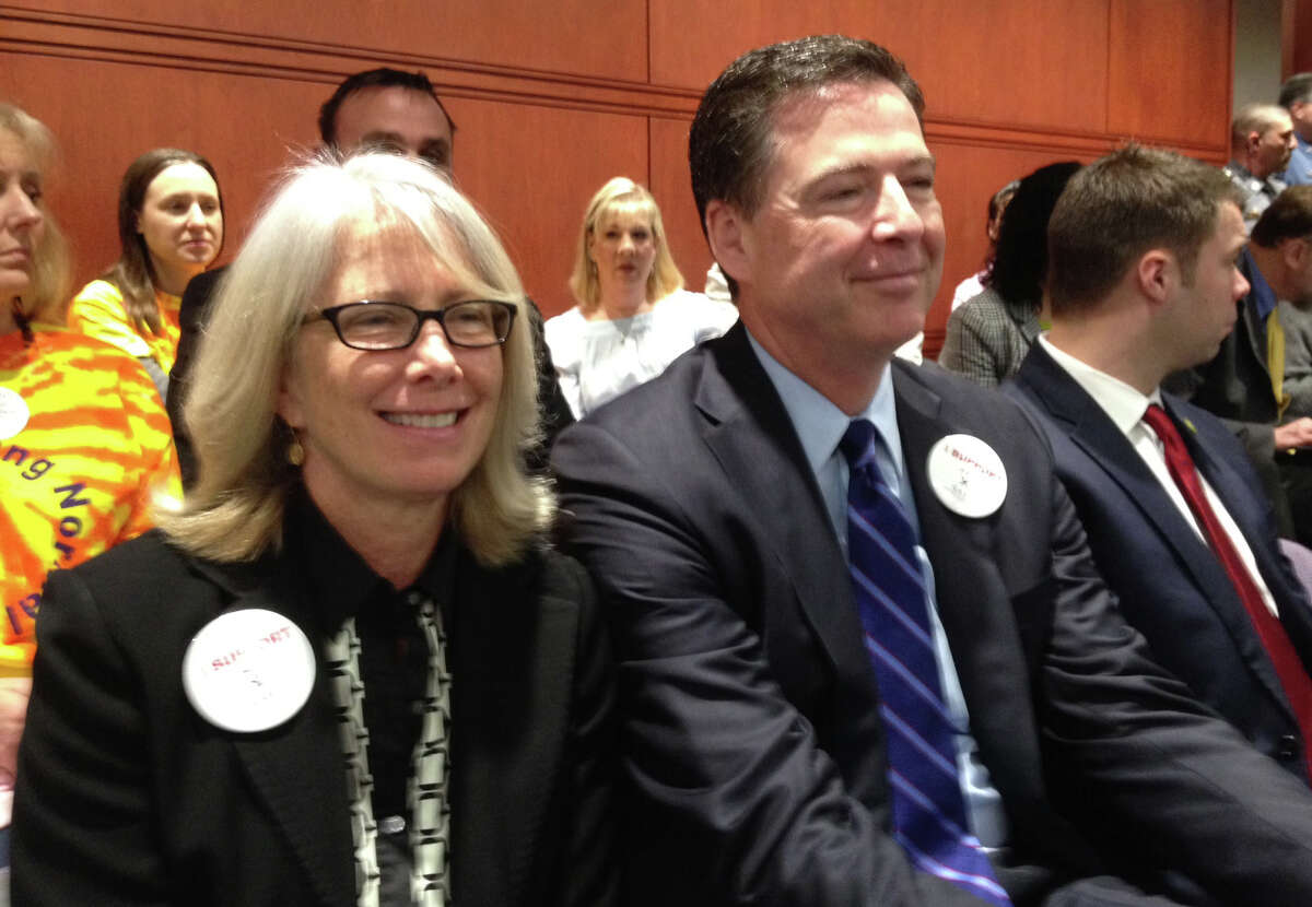 FBI Director James B. Coney Jr with wife Patrice, who testified Friday before a legislative committee in favor of a bill that would allow volunteers to counsel kids through the juvenile-justice system.