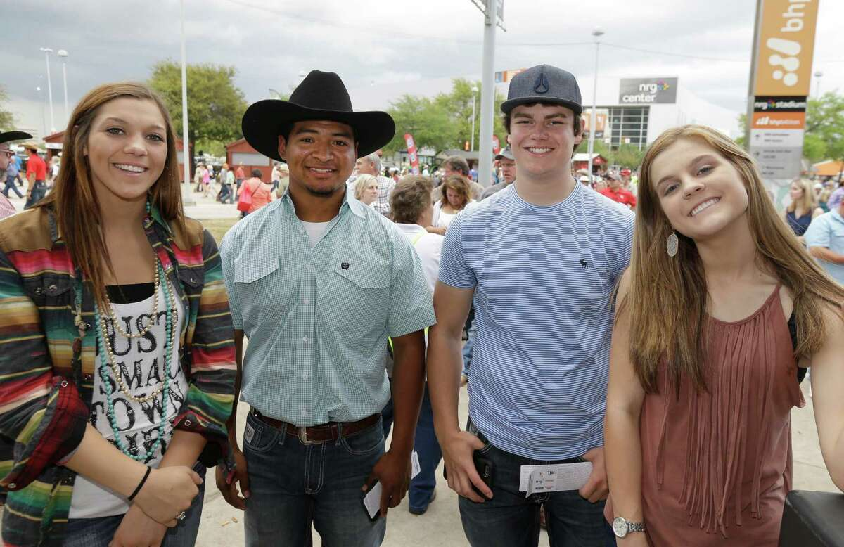 Fans at RodeoHouston on Friday