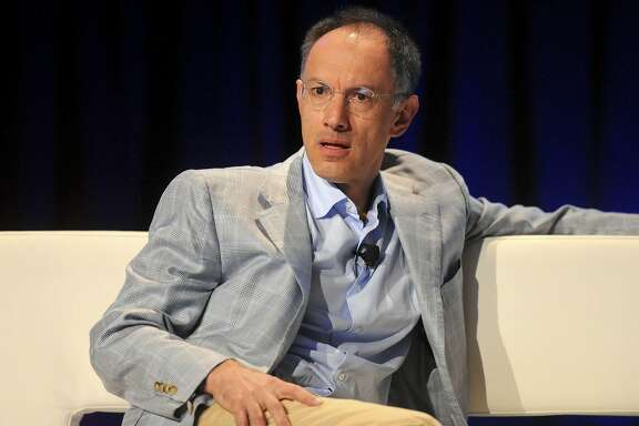 Michael Moritz, a partner with Sequoia Capital, listens during the TechCrunch Disrupt conference in San Francisco, California, U.S., on Tuesday, Sept. 28, 2010. The conference runs until Sept. 29. Photographer: Noah Berger/Bloomberg *** Local Caption *** Michael Moritz