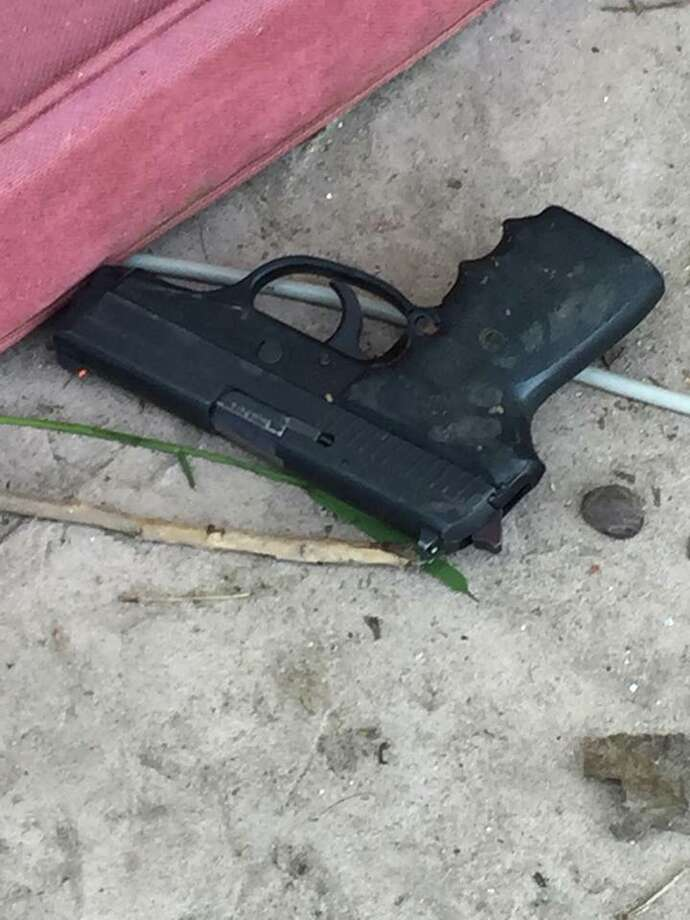 A photo of the gun a 49-year-old Byron man allegedly raised before he was shot and killed by Contra Costa County Sheriff's Office deputies.