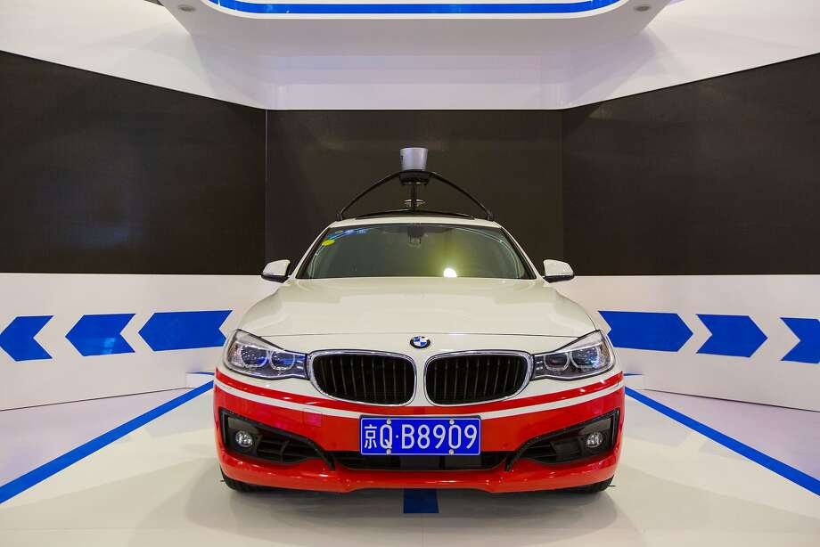 JIAXING, CHINA - DECEMBER 14:  (CHINA OUT) A Baidu self-driving car is on display during The Light of the Internet Expo as part of the 2nd World Internet Conference on December 14, 2015 in Jiaxing, China. The 2nd World Internet Conference - Wuzhen Summit would be held on Dec 16-18 in Wuzhen Town, Zhejiang Province.  (Photo by ChinaFotoPress/ChinaFotoPress via Getty Images) Photo: ChinaFotoPress, ChinaFotoPress Via Getty Images