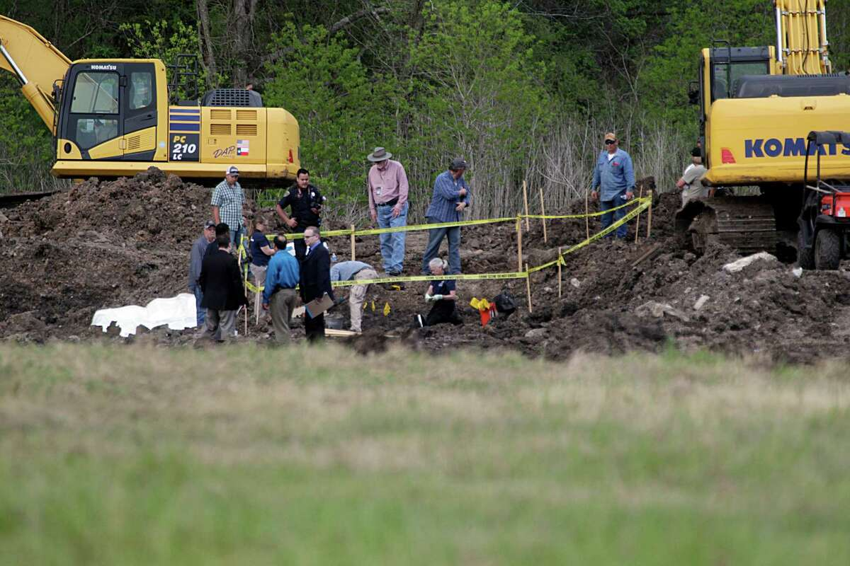 Authorities searched for Cain's body along East Orem in March.