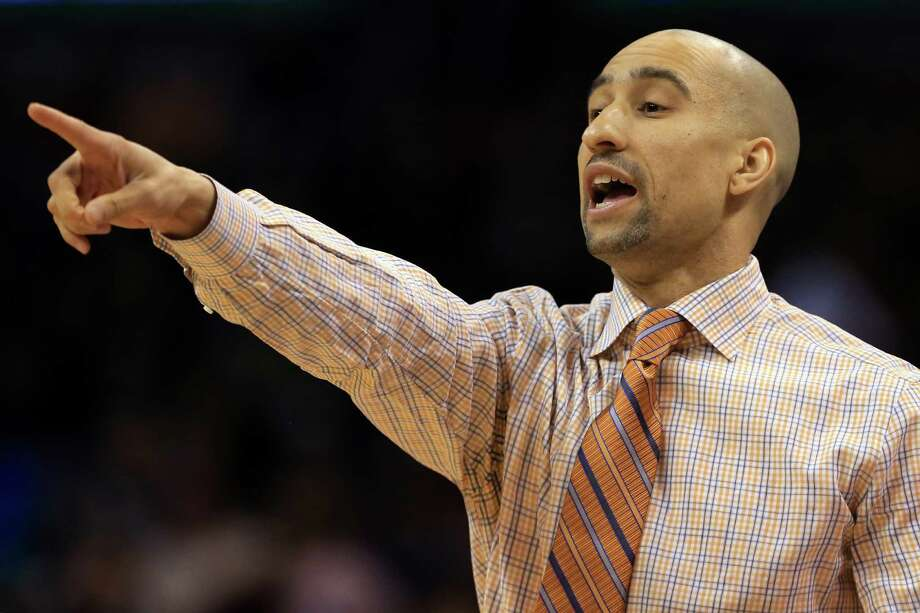 OKLAHOMA CITY, OK - MARCH 18:  Head coach Shaka Smart of the Texas Longhorns shouts to his team in the first half against the Northern Iowa Panthers during the first round of the 2016 NCAA Men's Basketball Tournament at Chesapeake Energy Arena on March 18, 2016 in Oklahoma City, Oklahoma. Photo: Tom Pennington, Getty Images / 2016 Getty Images