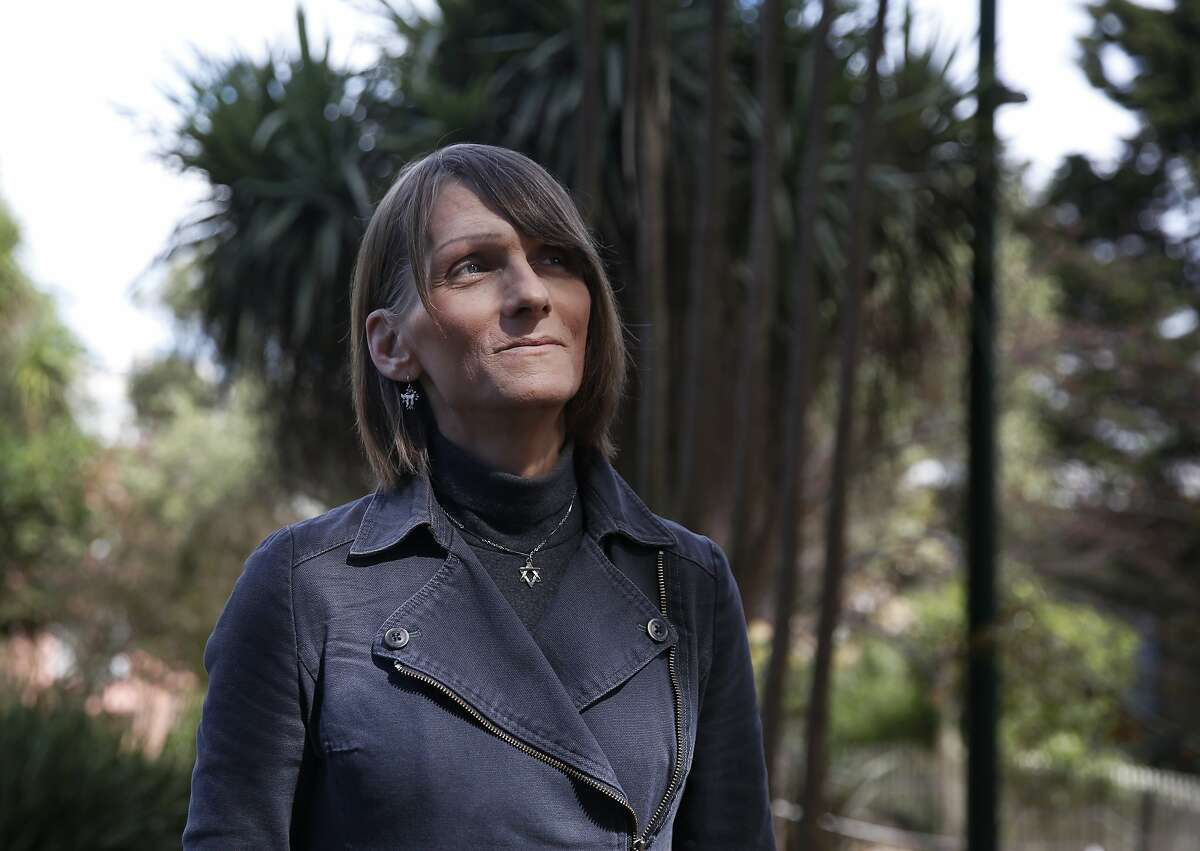 Michelle-Lael Norsworthy poses for a portrait in a park March 19, 2016 in San Francisco, Calif. Norsworthy, who is an ex-prisoner, was the first in California to win a court ruling requiring sex-reassignment surgery.