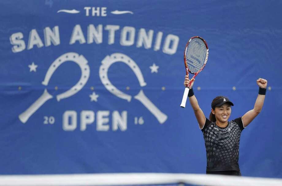 Japan's Misaki Doi beat Germany's Anna-Lena Friedsam to win the San Antonio Open last year. Doi was to defend her title. Photo: Kin Man Hui /San Antonio Express-News / ©2016 San Antonio Express-News
