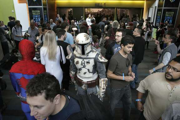 Guests crowd into the venue during the Silicon Valley Comic Con 2016, on Sat. March 19, 2016, at the San Jose Convention Center in San Jose, California.