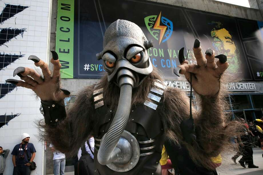 The character Terl from the upcoming movie Battlefield Earth, seen during the Silicon Valley Comic Con 2016, on Sat. March 19, 2016, at the San Jose Convention Center in San Jose, California. Photo: Michael Macor, The Chronicle