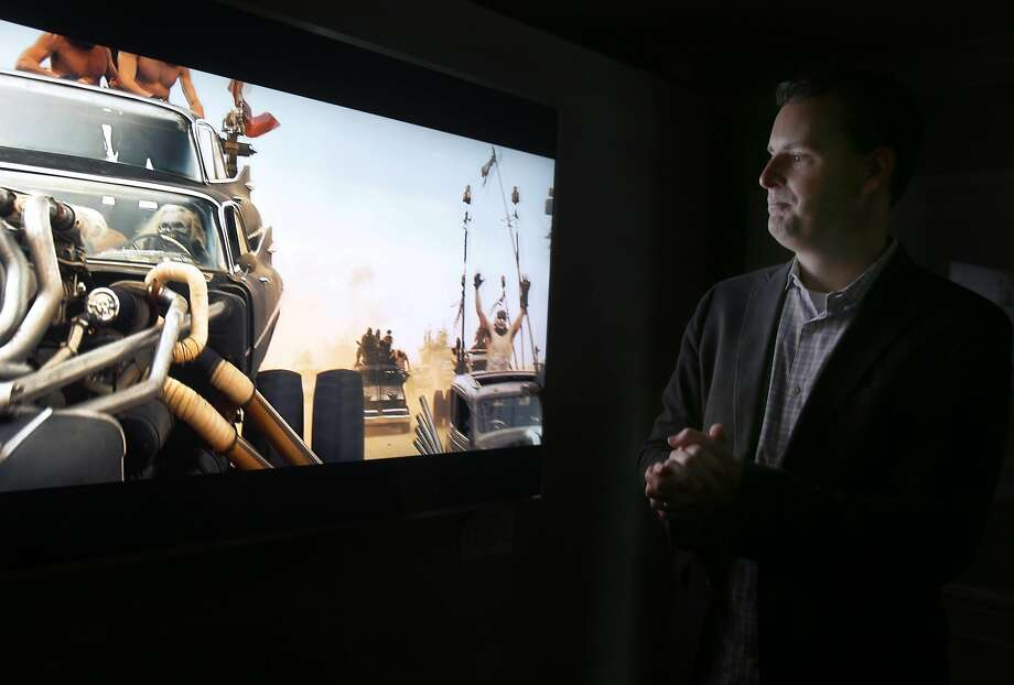 Matt McRae, the chief technology officer at Vizio, demonstrates the new P-Series line of SmartCast 4K ultra high-definition television monitors and audio equipment in San Francisco, Calif. on Friday, March 11, 2016. Photo: Paul Chinn, The Chronicle