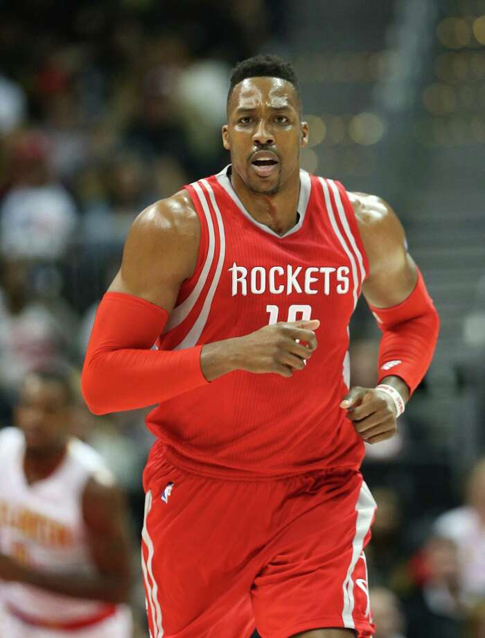 Houston Rockets center Dwight Howard (12) is shown in the first half of an NBA basketball game  against the Atlanta Hawks  Saturday, March 19, 2016, in Atlanta. Photo: John Bazemore, AP / AP