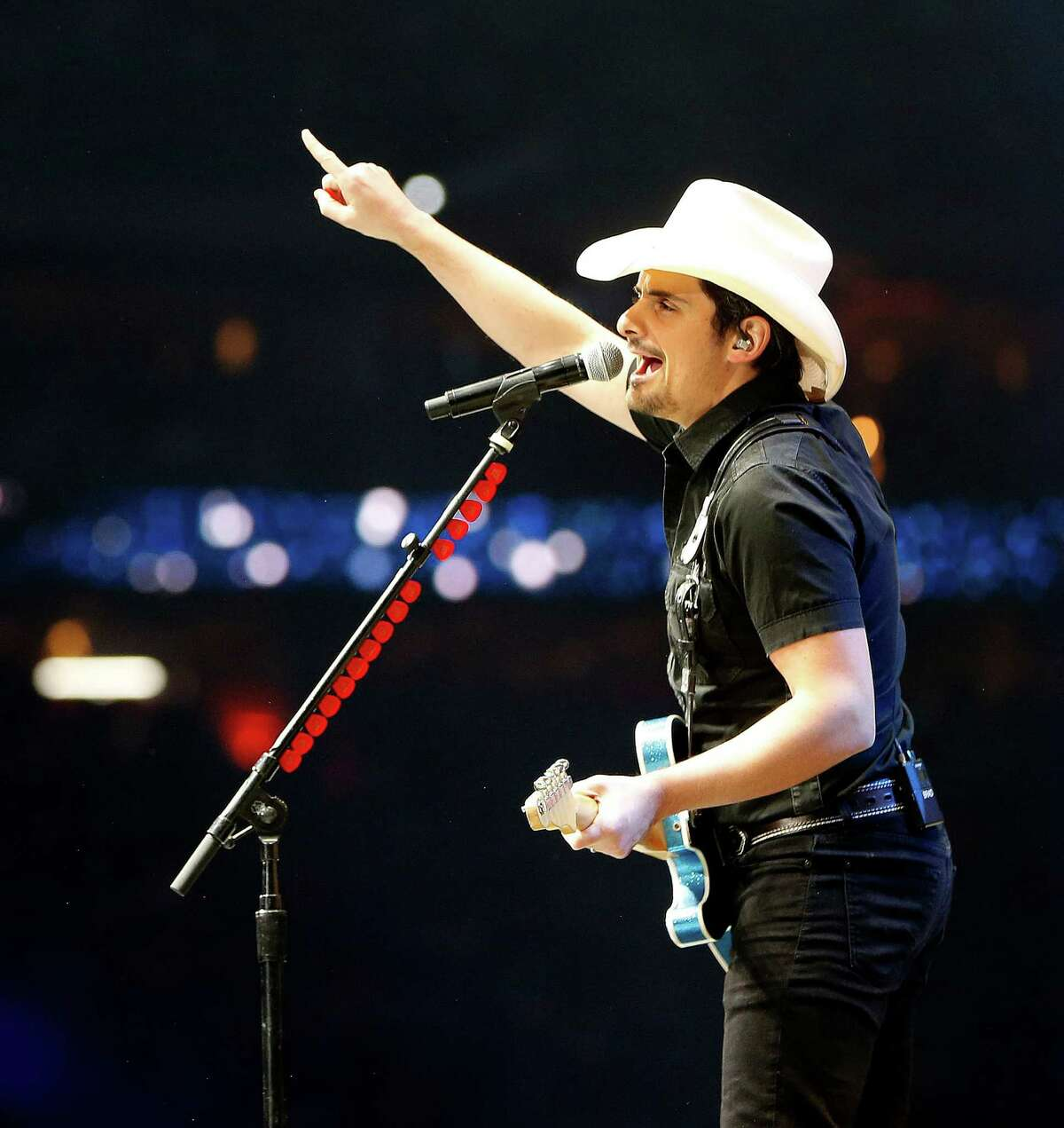 Brad Paisley performs at the Houston Livestock Show and Rodeo in NRG Stadium, Saturday, March 19, 2016.