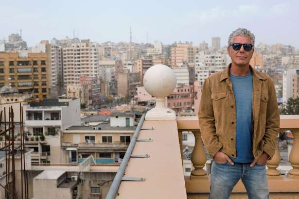 Anthony Bourdain in Beirut, Lebanon.