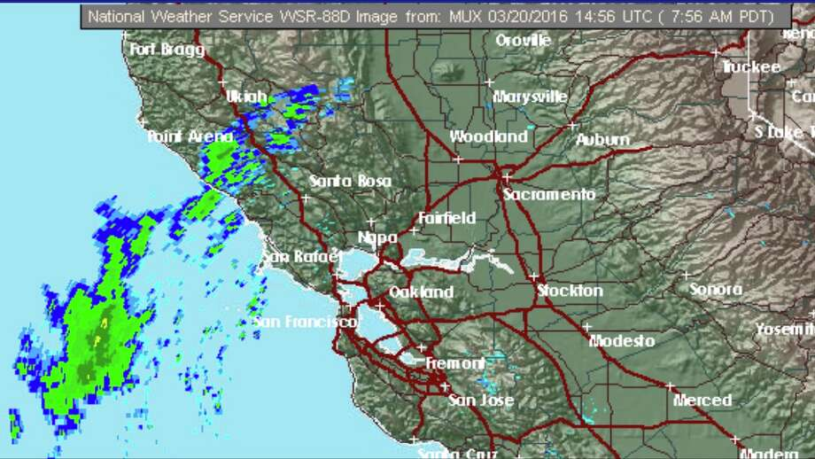 Light rain is expected in the Bay Area on Sunday, the first full day of spring, forecasters predicted.