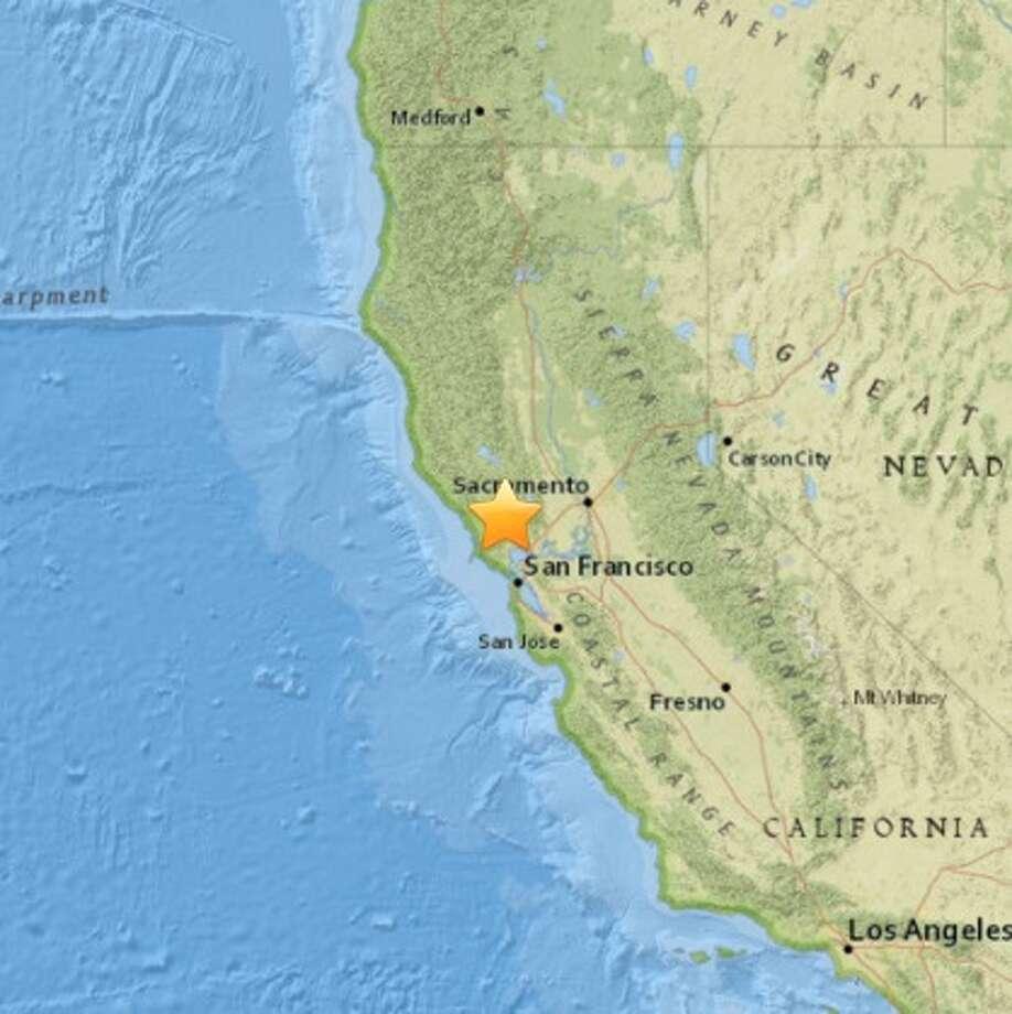 A 3.3 magnitude earthquake shook Kenwood, Calif. on Sun. March 20, 2016. Photo: USGS