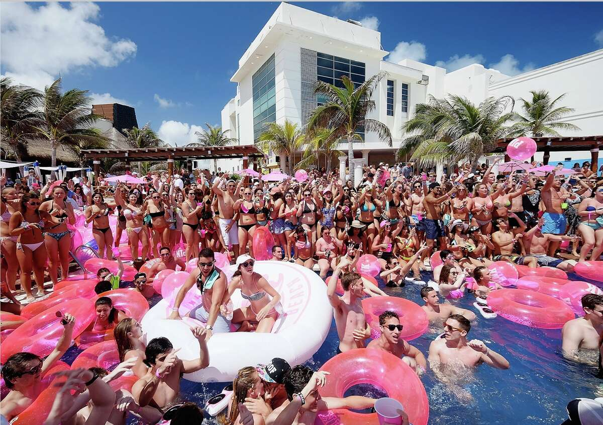 Guests attend Victoria's Secret PINK Nation Spring Break Beach Party in Cancun, Mexico on March 15, 2016 in Cancun, Mexico.