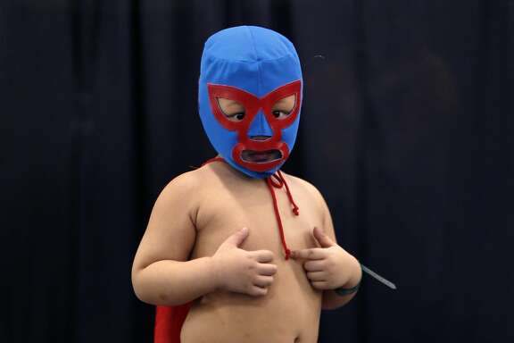 "Davin Tan of the Philippines as ""Nacho Libre"" t Silicon Valley Comic Con in San Jose, Calif., on Sunday, March 20, 2016."