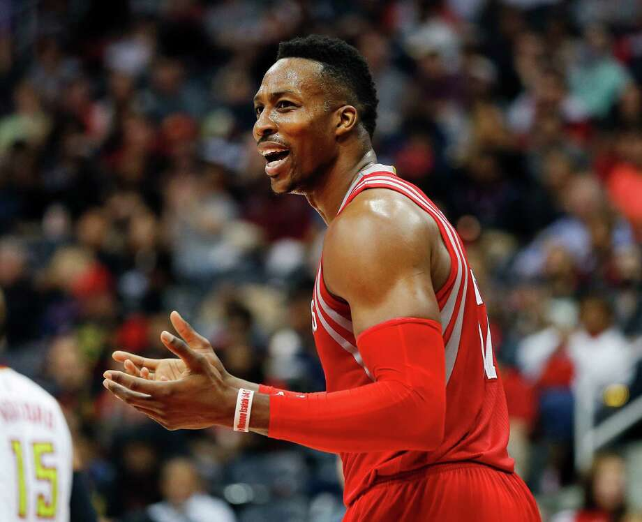 Dwight Howard can't believe the NBA is looking into his use of a spray-on substance. Photo: John Bazemore, STF / AP