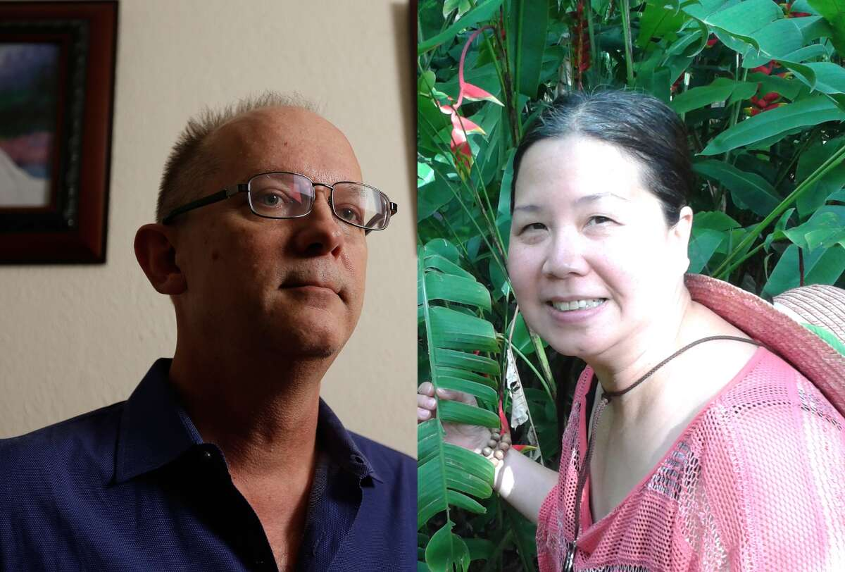 Pictured: Jeff Gillis and Sandy Phan-Gillis of Houston. Phan-Gillis has been detained by the Chinese government for a year.