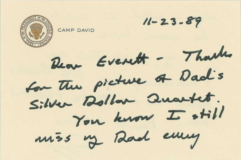 A thank-you note to Everett Fisher from President George H.W. Bush sold at auction for $1,278.90.