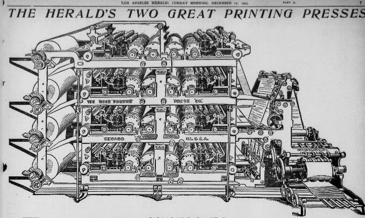 William Bullock (1813-1867) invented the web rotary printing press. Several years after its invention, his foot was crushed during the installation of a new machine in Philadelphia. The crushed foot developed gangrene and Bullock died during the amputation.