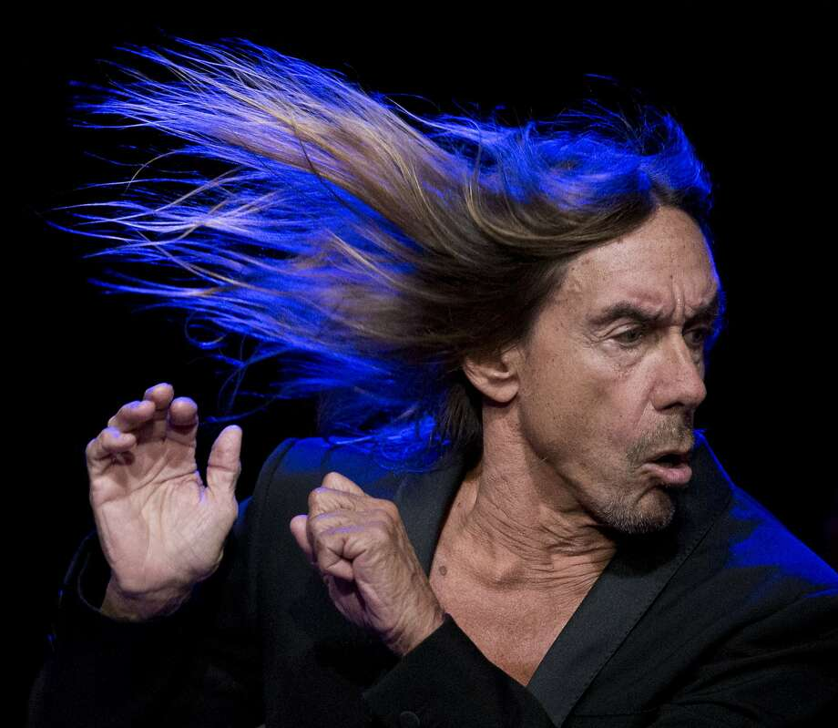 """Iggy Pop performs for an episode of """"Austin City Limits"""" at ACL Live at the Moody Theatre during South by Southwest festival in Austin, Texas, Tuesday, March 15, 2016. Photo: Jay Janner, AP"""