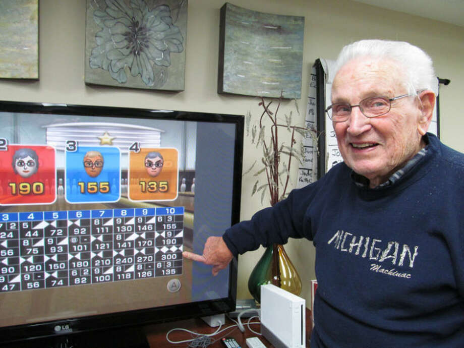 Photo providedBill Eyre, 91, scored a perfect 300 Wii bowling game at Independence Village recently.