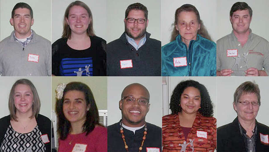 Photo providedFrom left, top row first, are honorees John Calvert Jr., Danielle Rossman, Matthew Campbell,  Anita Newton, Charles Vendley, Kari Niese, Ashley Giordano, Nick Reynolds, Elizabeth Belay-Loftis and Wendy Franz.