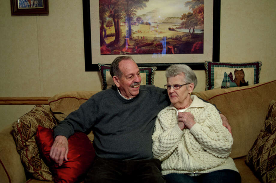 Ted and Gladys Hunt, of Midland, have been married for 60 years. Photo: Nick King/Midland  Daily News / Midland Daily News