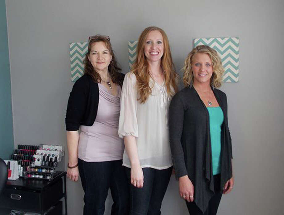 Photo providedThe staff of B Polished Nail Salon consists of, from left, Nadine Barkley, Breeann Helsel and Ashley Wilbanks.