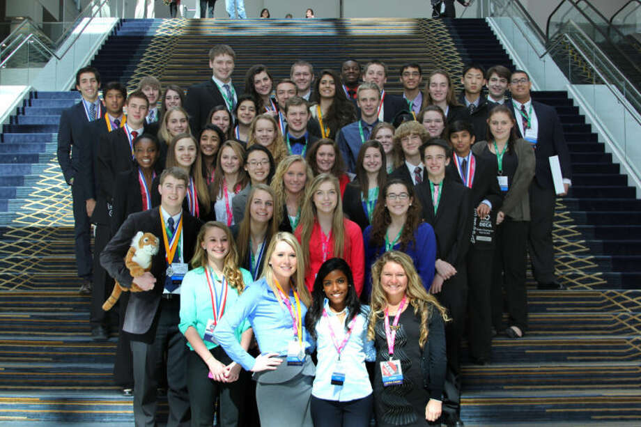 Photo providedPictured are students involved in DECA at H.H. Dow High School.