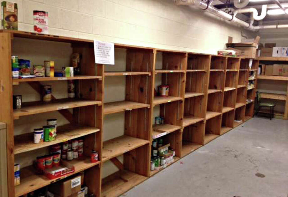 Photo providedThis picture of The Salvation Army food pantry shows the bare shelves and illustrates the need for food donations on Saturday.