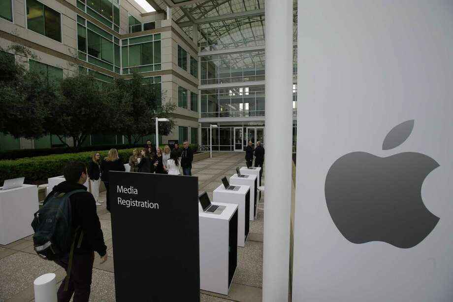 The exterior of Apple headquarters is seen before an event to announce new products at the company's headquarters Monday, March 21, 2016, in Cupertino, Calif. (AP Photo/Marcio Jose Sanchez) ORG XMIT: CAMS102 Photo: Marcio Jose Sanchez / AP