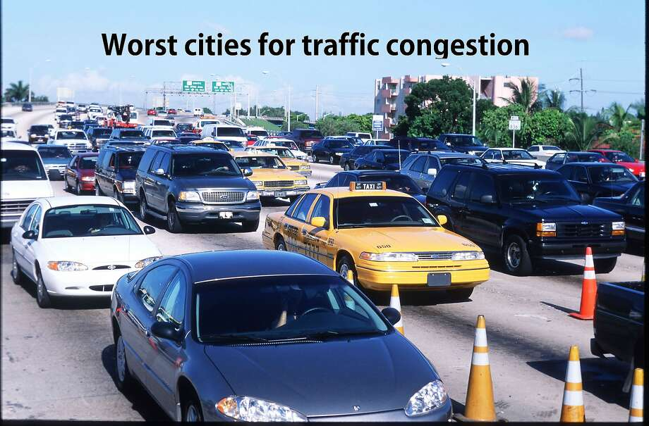 TomTom, the navigation system-making company, has released its 2016 Traffic Index ranking the most congested cities in the United States. Stop and go through the gallery to see the the top-20 gridlock leaders. Photo: Robert Nickelsberg,  Getty Images