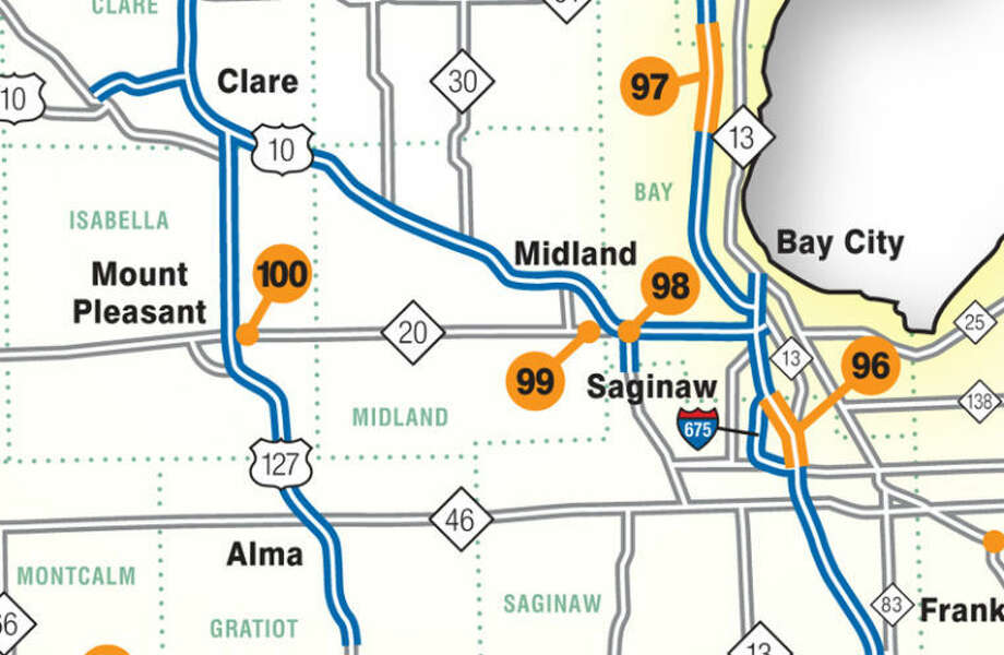 """This 2014 construction map is from the """"Maps and Publications"""" section of the MDOT website. The PDF can be downloaded."""