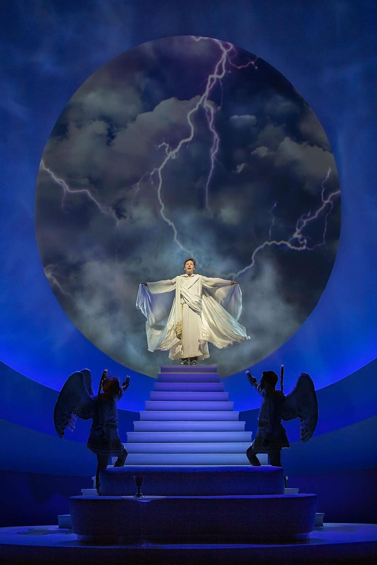 """Sean Hayes stars in """"An Act of God,"""" at the SHN Golden Gate Theatre through April 17, 2016. Photo by Jim Cox"""