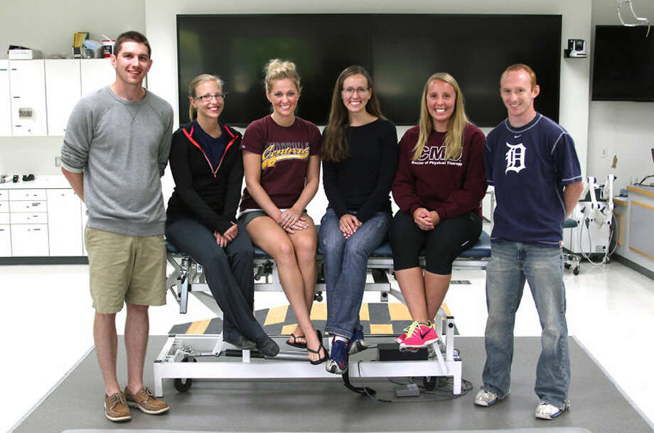 First-year doctoral students in the physical therapy program are in the first cohort of the new partnership between Central Michigan University and Michigan Technological University Photo:  University Of Communications Photo Intern Samantha Madar