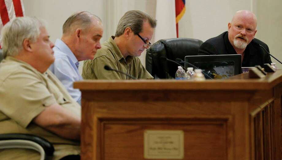 FILE -- The Castle Hills City Council. A four-hour Tuesday marathon meeting featured a plot from three council members to oust City Attorney Michael Brenan. Photo: Kin Man Hui /San Antonio Express-News / ©2016 San Antonio Express-News