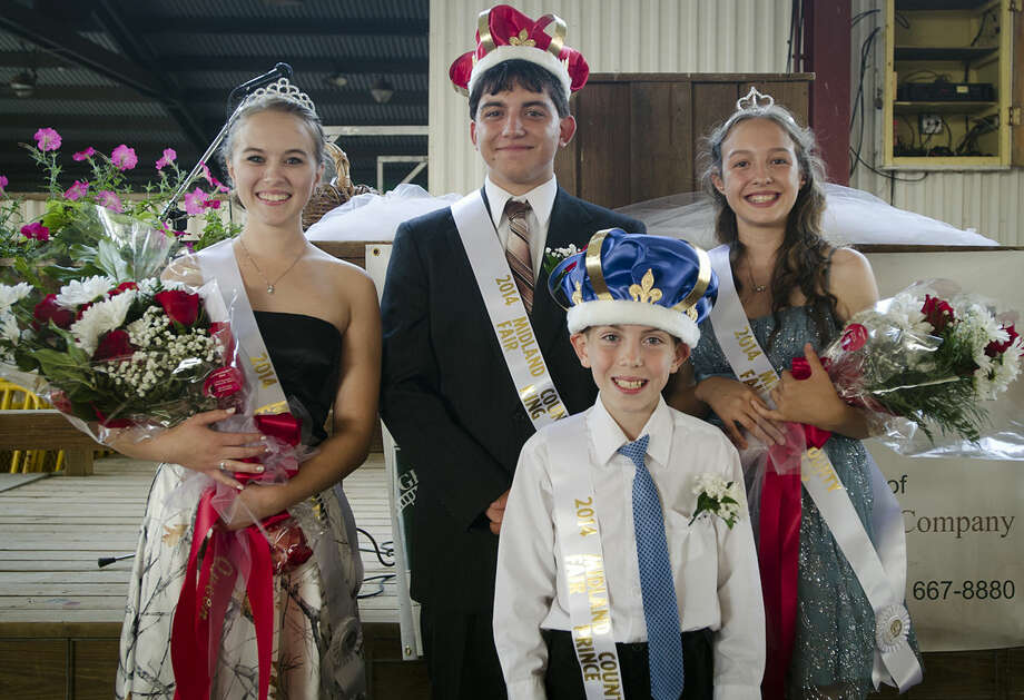 2014 Midland County Fair Royalty include Queen Ashleigh Reynolds, 18, King Zackary Filcek, 17, Prince Dakota Baker, 11, and Princess Alexandra Ramirez, 14. Photo: DANIELLE MCGREW