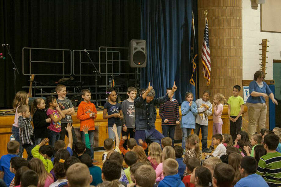 The Shanren band from China visited Eastlawn Elementary during a recent trip to the area. Photo: Photo Provided