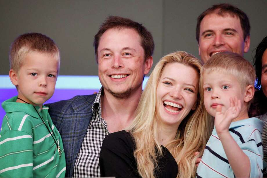 Elon Musk, left, who founded Tesla Motors and SpaceX, and actress Talulah Riley were married in 2010, divorced in 2012 and remarried 18 months later. Photo: Mark Lennihan, STF / ONLINE_YES
